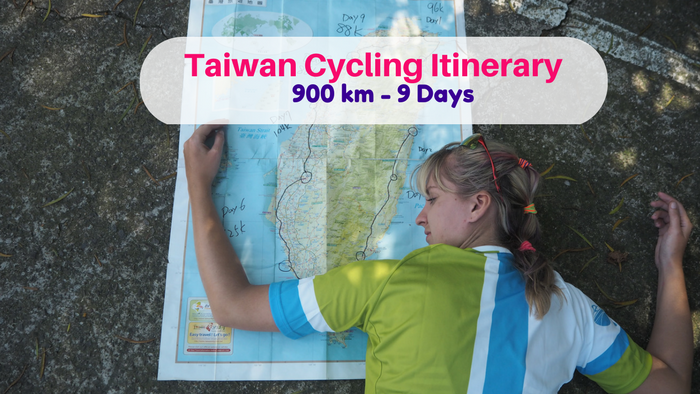 Taiwan Itinerary cycling 9 days