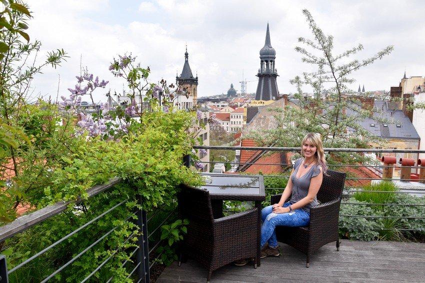 Best view of Prague from Mosaic hostel