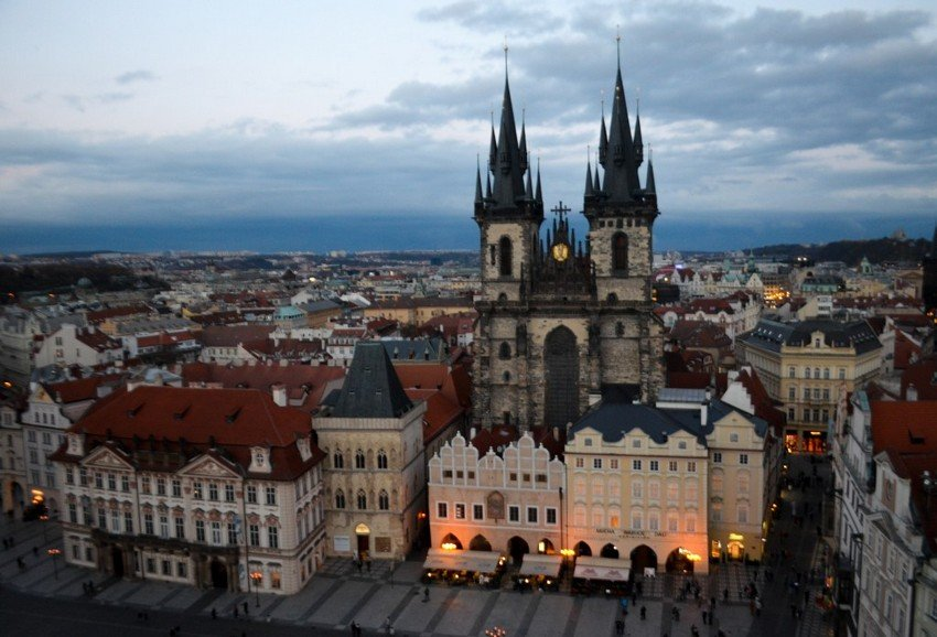 Best view in Prague from Old Town tower