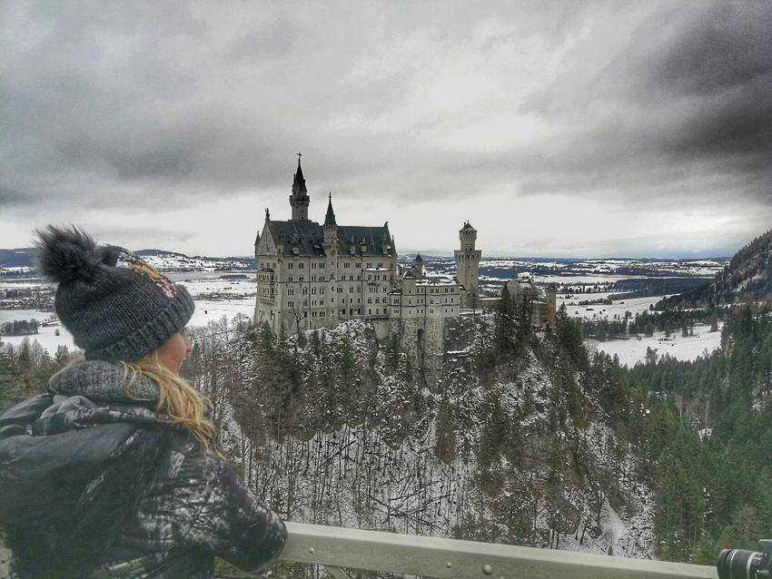 visiting neuschwanstein castle in winter