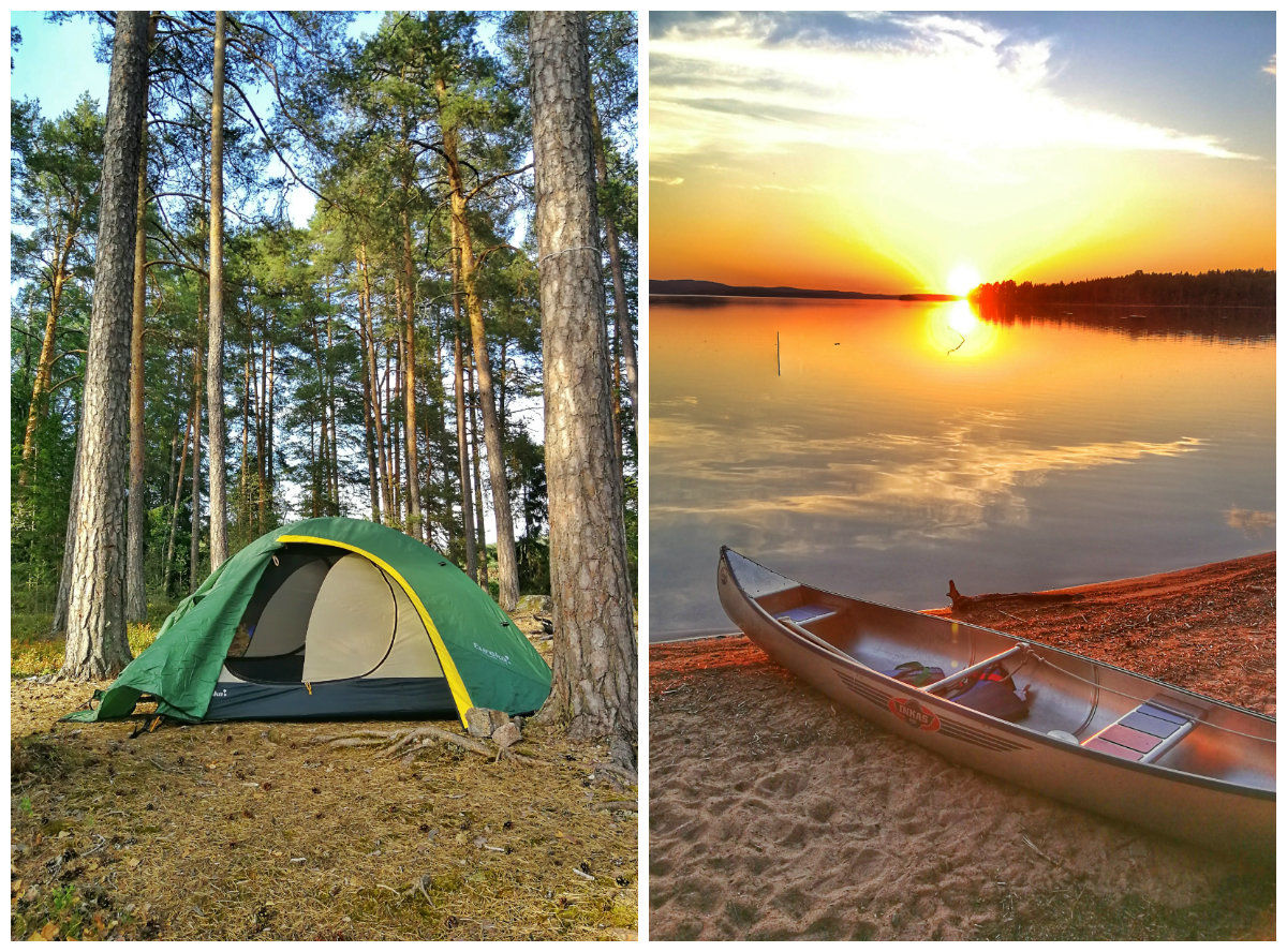 wild camping sweden