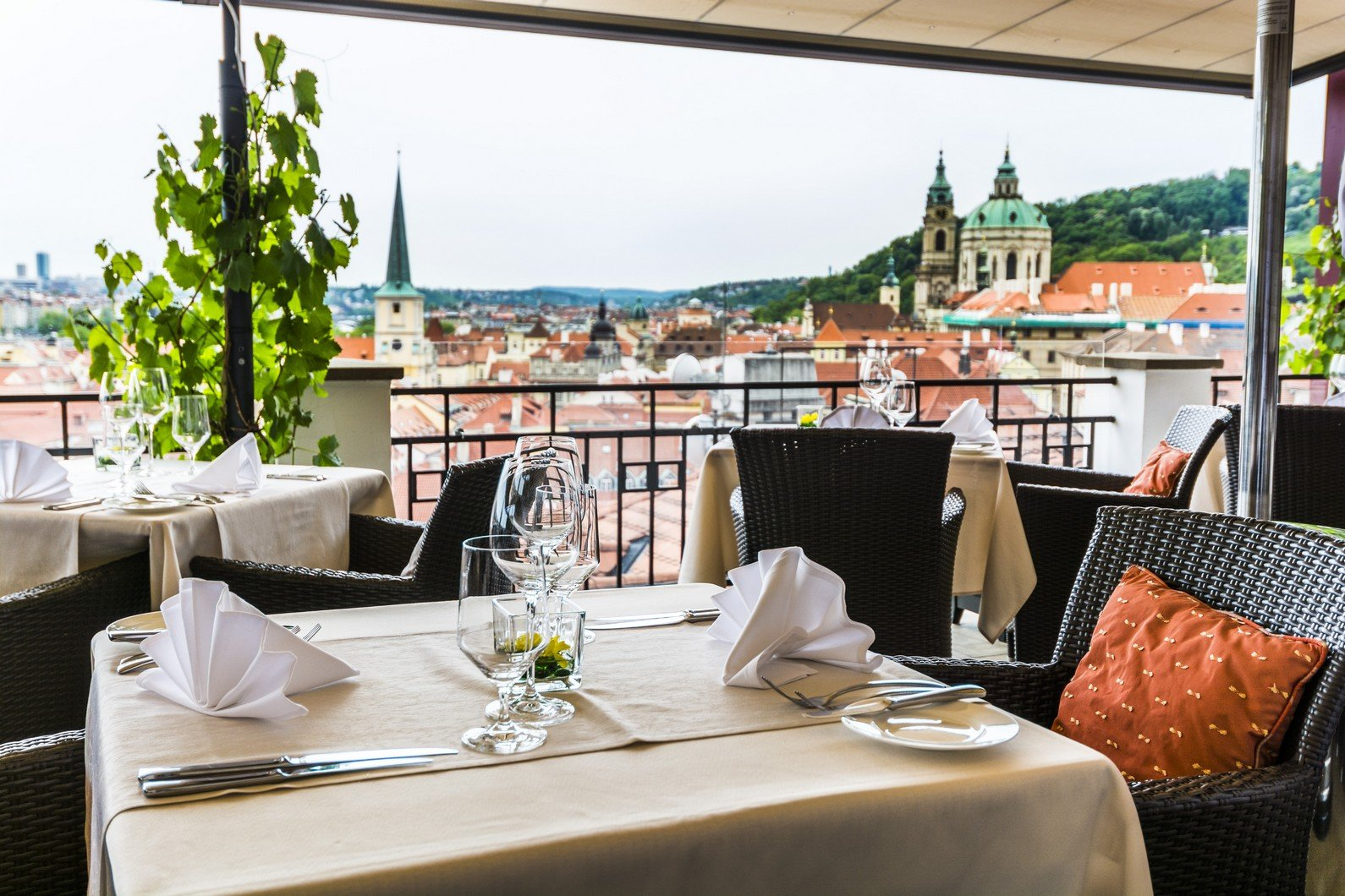 prague restaurants with a view